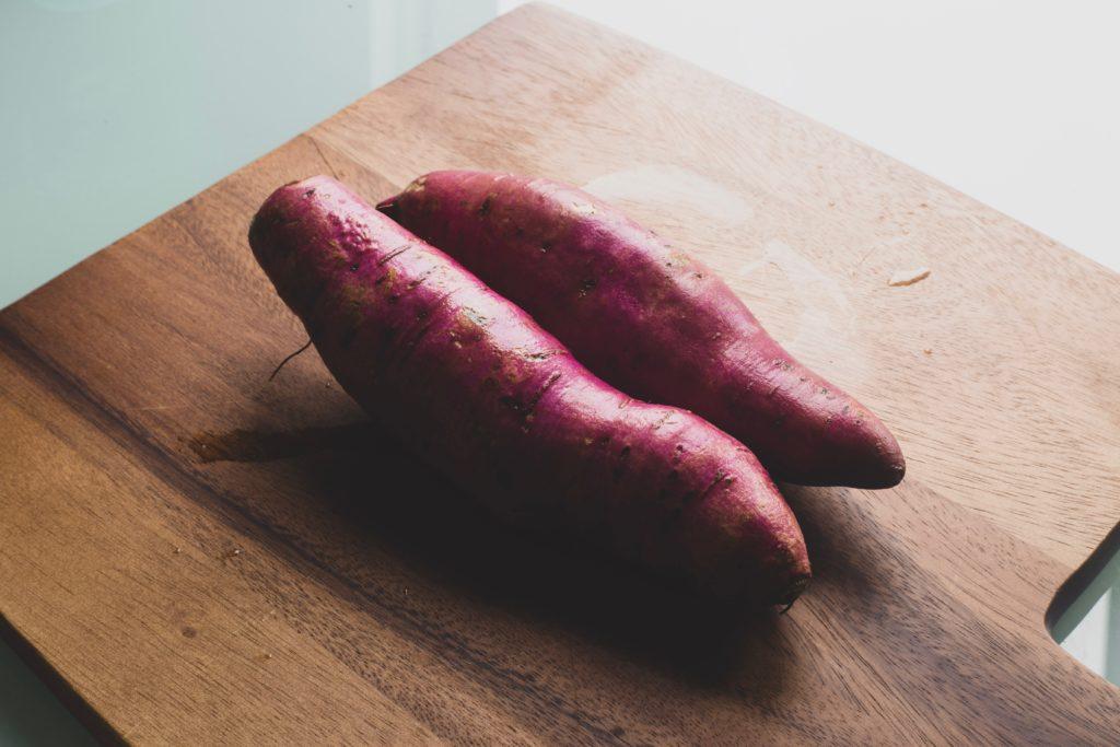 増量期間中の糖質代表の薩摩芋